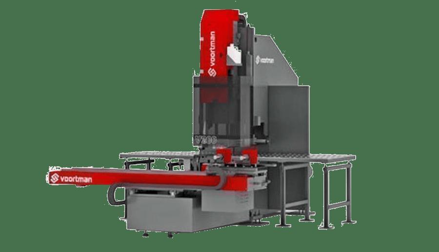Línea de taladrado automático Voortman con 5 herramientas