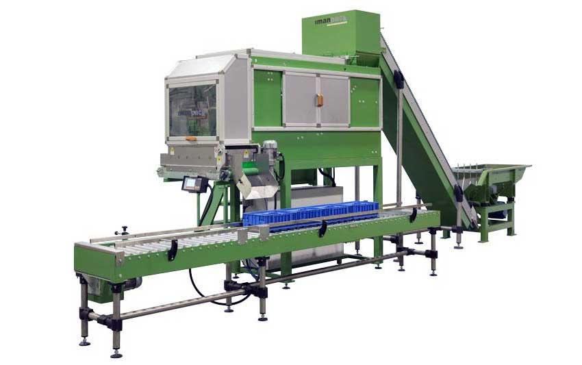 Máquina pesadora y contadora automática