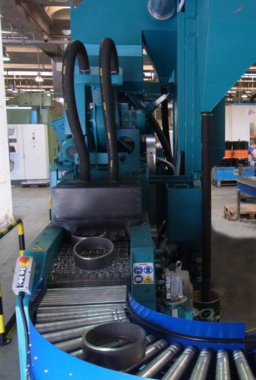 Granalladoras CWB con trasnportador de red metálica
