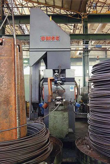 Granalladora SWS para hilo de acero