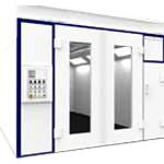 Soluciones de cabina industriales de pintura