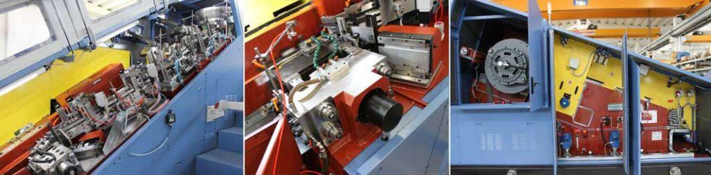 Gama completa de máquinas INGRAMATIC para el roscado de tornillos, pernos y piezas especiales
